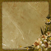 Vintage paper with flowers — Stock Photo