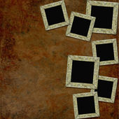 Vintage background with frames — Foto Stock
