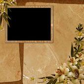 Framework for photo or invitation — Stock Photo