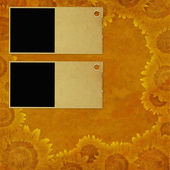 Framework for invitations on the vintage background. — 图库照片