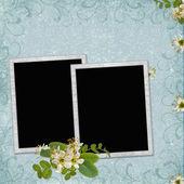 フレームや花の背景 — ストック写真