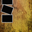 Stock Photo: 3 Old paper frame on grunge background