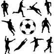Royalty-Free Stock Vector Image: Collection of soccer players.
