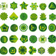 Stock Vector: Set of green logo