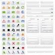 Vector de stock : White web design elements set