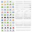 White web design elements set — Stock Vector