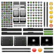 Black web design elements set. — Stock Vector
