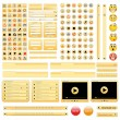 Vector de stock : Yellow web design elements set.