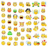 Collection of smiles — Vector de stock