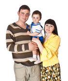 Portrait of happy family — Stock Photo