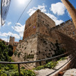 Fisheye view of citadel in Jerusalem — Stock Photo