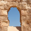 Stock Photo: Ancient stone arched window