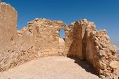 Ruins of ancient church with arched window — Stock Photo