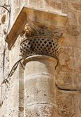 Capital da coluna da igreja do santo sepulcro em jerusalém — Foto Stock