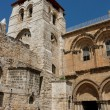 Entrance to the Church of the Holy Sepulchre in Jerusalem — Stock Photo