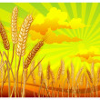 Royalty-Free Stock Vector Image: Landscape with wheat