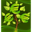 Stock Vector: Euro tree