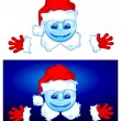 Two Santa — Stock Vector