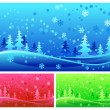 Winter forest — Stock Vector #2768957