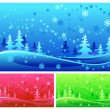 Stock Vector: Winter forest