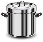 Silver pan — Stock Vector