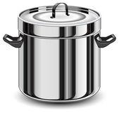 Silver pan — Stock Vector