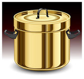 Gold pan — Stock Vector