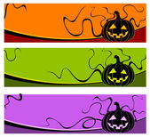 Halloween pumpkins — Vector de stock