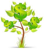 Dolar drzewo — Wektor stockowy