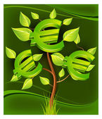 Euro tree — Stock Vector