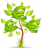 Euro tree — Stock Vector