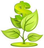 Planta de dólar — Vector de stock