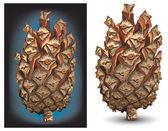 Pine cone — Stock Vector