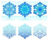Sneeuwvlokken — Stockvector