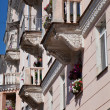 Ancient house with balconies — Stock Photo #3516930