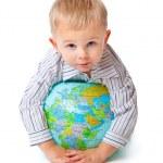 Child and globe — Stock Photo #4020924