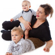 Mother and two boys — Stock Photo #4020975