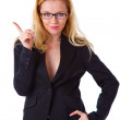 Youngwoman in a business suit — Stock Photo #4021149