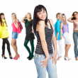 Group of young girls — Stock Photo #4022099