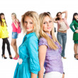 Group of young girls — Stock Photo