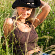 Young cowgirl — Stock Photo #4022361