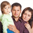 Стоковое фото: Mother, fathher and little daughter