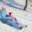 Mother and daughter in winter park — Stock Photo #4027123