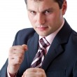 Businesman with two fists — Stock Photo