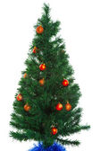 Christmas tree on a white background — Stock Photo
