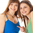 Two laugh teenage girls — Stock Photo #4031238