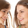 Two laugh teenage girls — Stock Photo #4031251