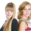Two blond girlfriends — Stock Photo