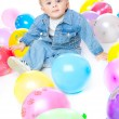 Royalty-Free Stock Photo: Little baby in balloons