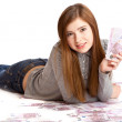 Beautiful teenage girl — Stockfoto